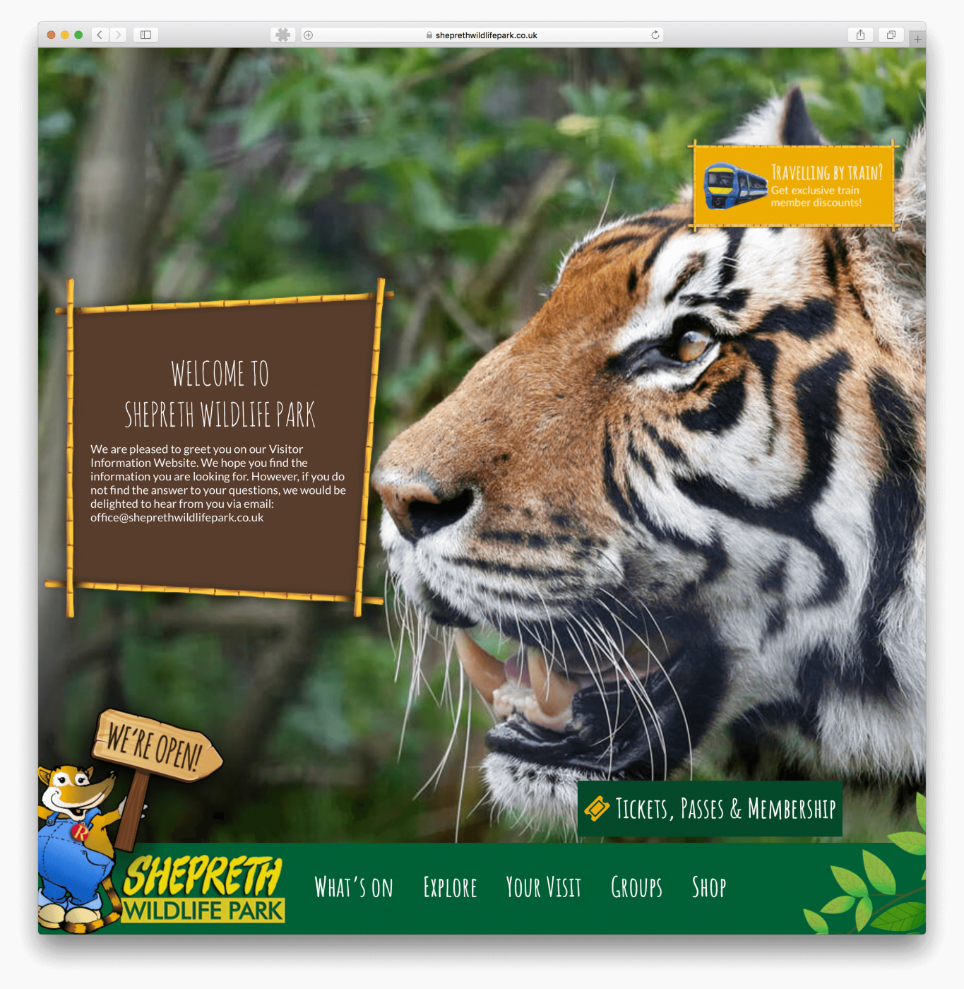 Website design for Cambridge based Zoo