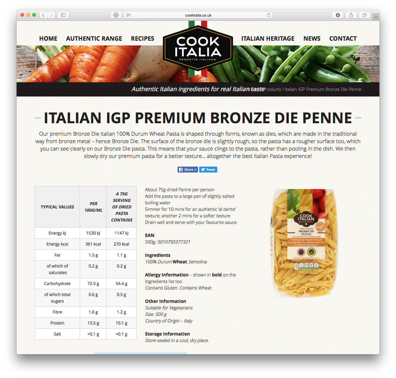 Cook Italia Website