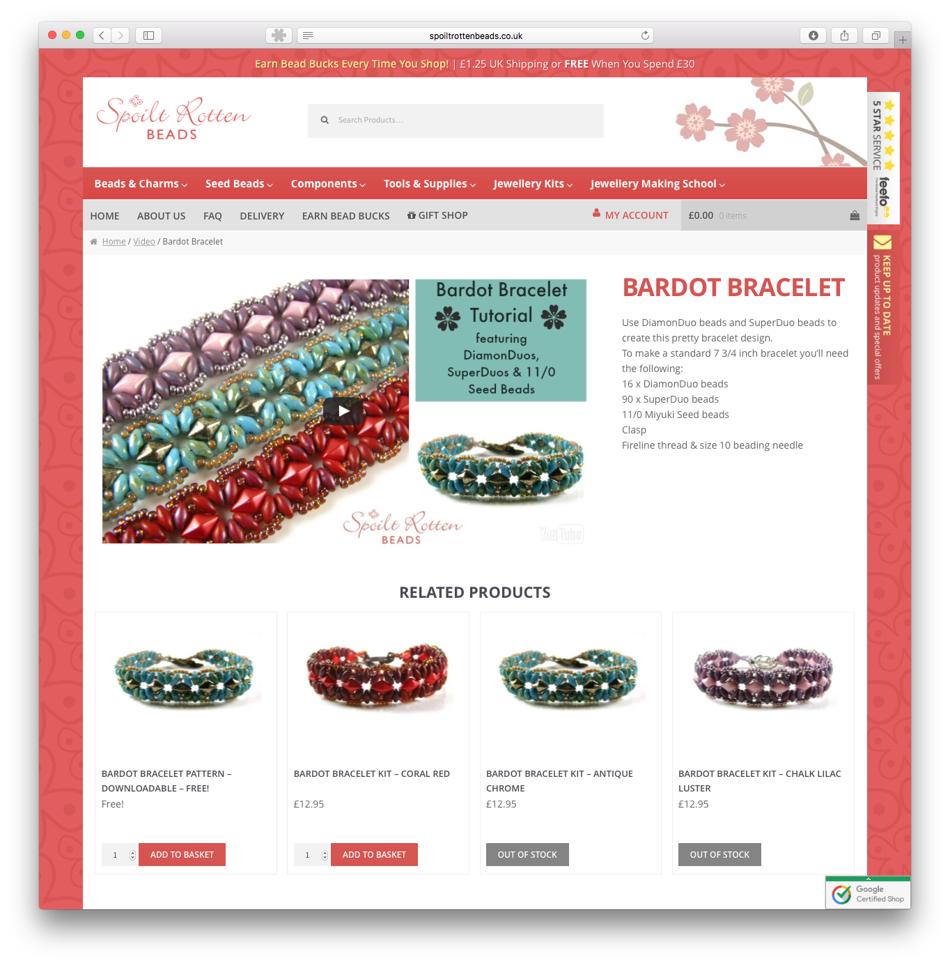 eCommerce Website for Spoilt Rotten Beads