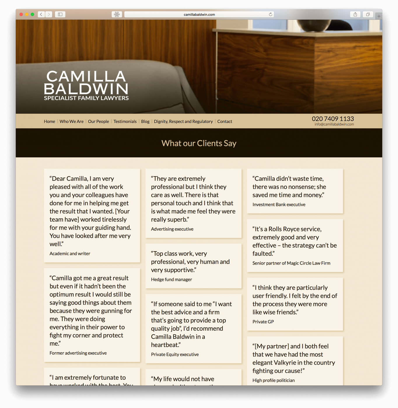 Family law website design
