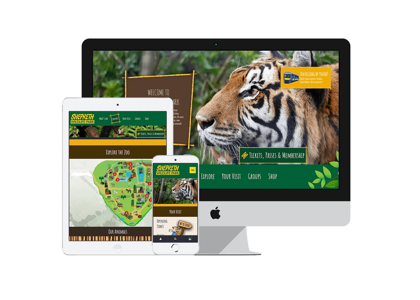 Ecommerce website for Shepreth Wildlife Park